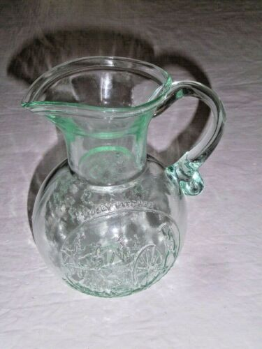 Molly Pitcher Blown Glass Pitcher Limited Edition Clevenger Bros American Bison