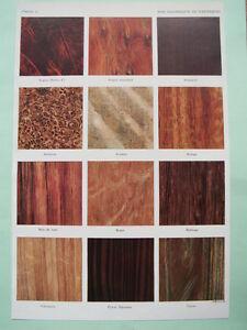 planche ancienne 1930 bois coloniaux exotiques menuiserie ebeniste ebay. Black Bedroom Furniture Sets. Home Design Ideas