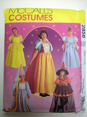 Child Snow White Fairy Princesses Rupunzel Costume Pattern 2856 Size 7 8 10