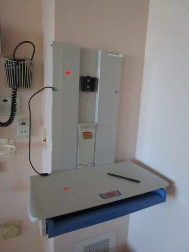 Rubbermaid Medical Solutions Premium Hospital Work Station Slim Line wall mount
