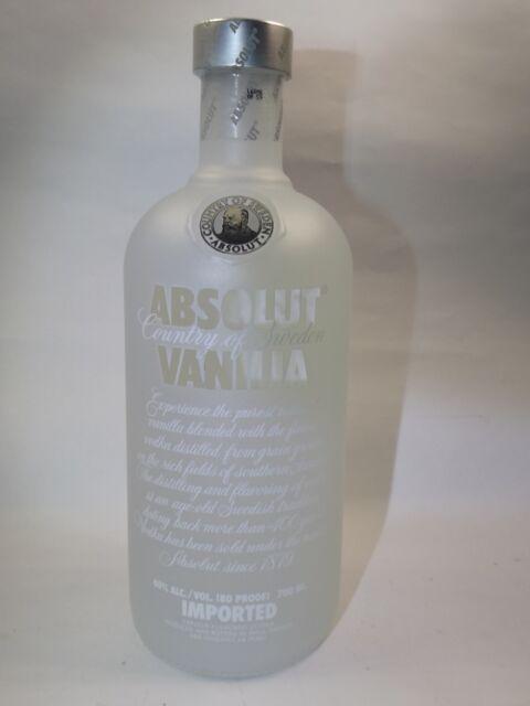 Absolut Vanilia Vodka klare Schrift 40% vol. 700 ml Old DESIGN