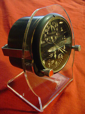 Aircraft clock stand, aviation,Su mig,russian mig,aircraft clocks,