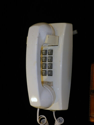 Vintage Western Electric Wall Phone, White