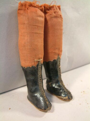 Cloth Pair of Antique German Lower Legs for China Paper Mache Wax etc. LOOK!