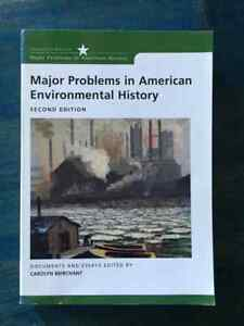 Major Problems in American Environmental History – Oct 20 2006