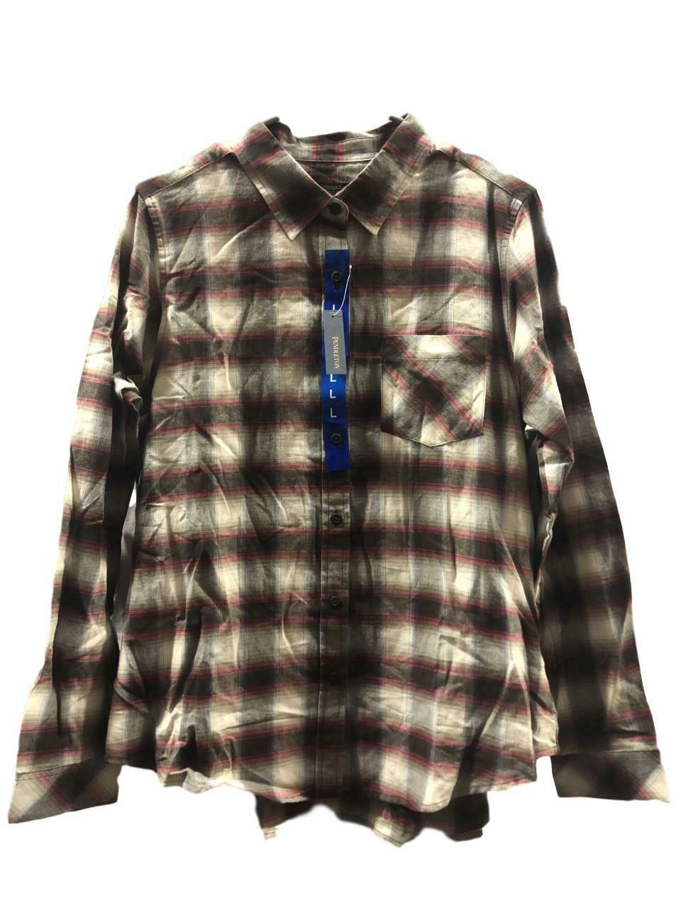 Womens Pendleton Plaid Button Up Long Sleeve Shirt. Large Casual Button-Down Shirts