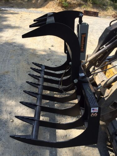 "New 66"" Root Grapple Skid Steer/Tractor  Brush Bucket -Bobcat, Case, Cat, etc"
