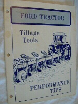 Ford Tractor Tillage Tools Performance Tips Book Farm Plows Harrows Cultivators