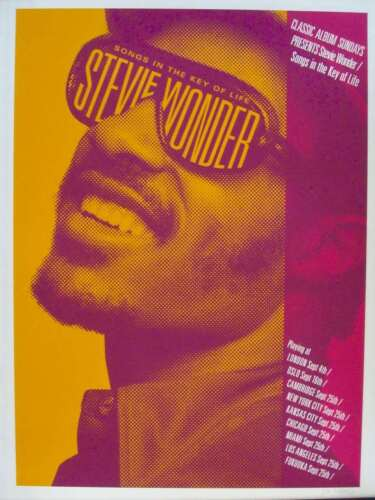 STEVIE WONDER SONGS IN THE KEY OF LIFE Limited edition print poster 18x24 Mint