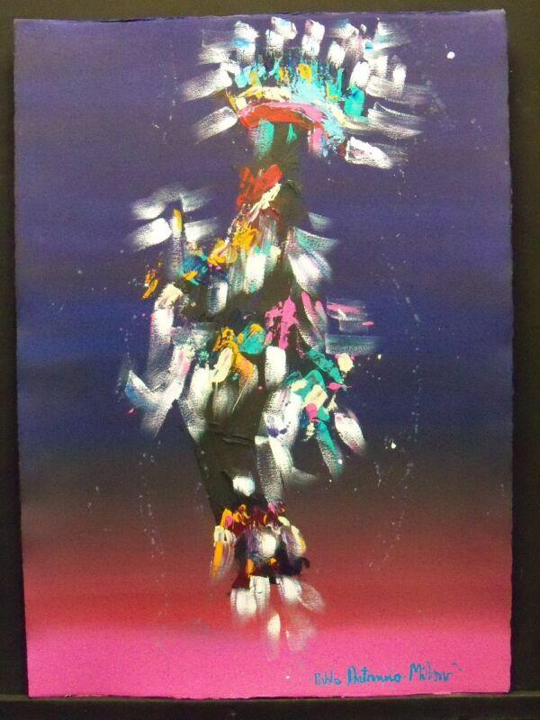 Pablo Antonio Milan Kachina Dancer Acrylic On Paper Original Painting Make Offer
