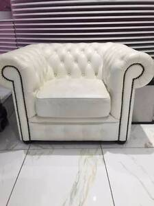 Classic style high class leather 1 seat sofa, high back armchair Chatswood Willoughby Area Preview