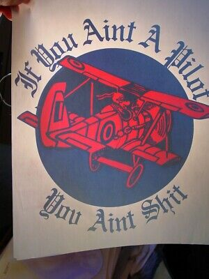 IF YOU AIN'T A PILOT 1970's VINTAGE AMERICANA IRON ON TRANSFER FUNNY B-9  segunda mano  Embacar hacia Mexico