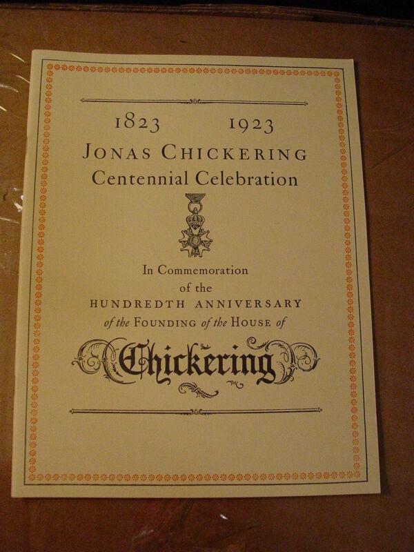 LAST COPY!! AMPICO CHICKERING PLAYER PIANO CENTENNIAL CHICAGO DOHNANYI - reprint