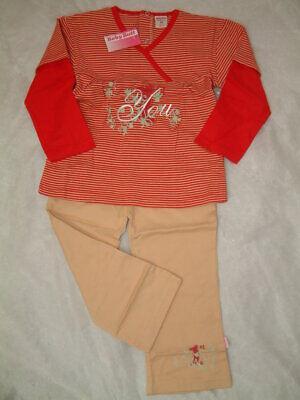 Baby Butt Süße Baby Mädchen Kombi Shirt und Hose reine Baumwolle Größen...