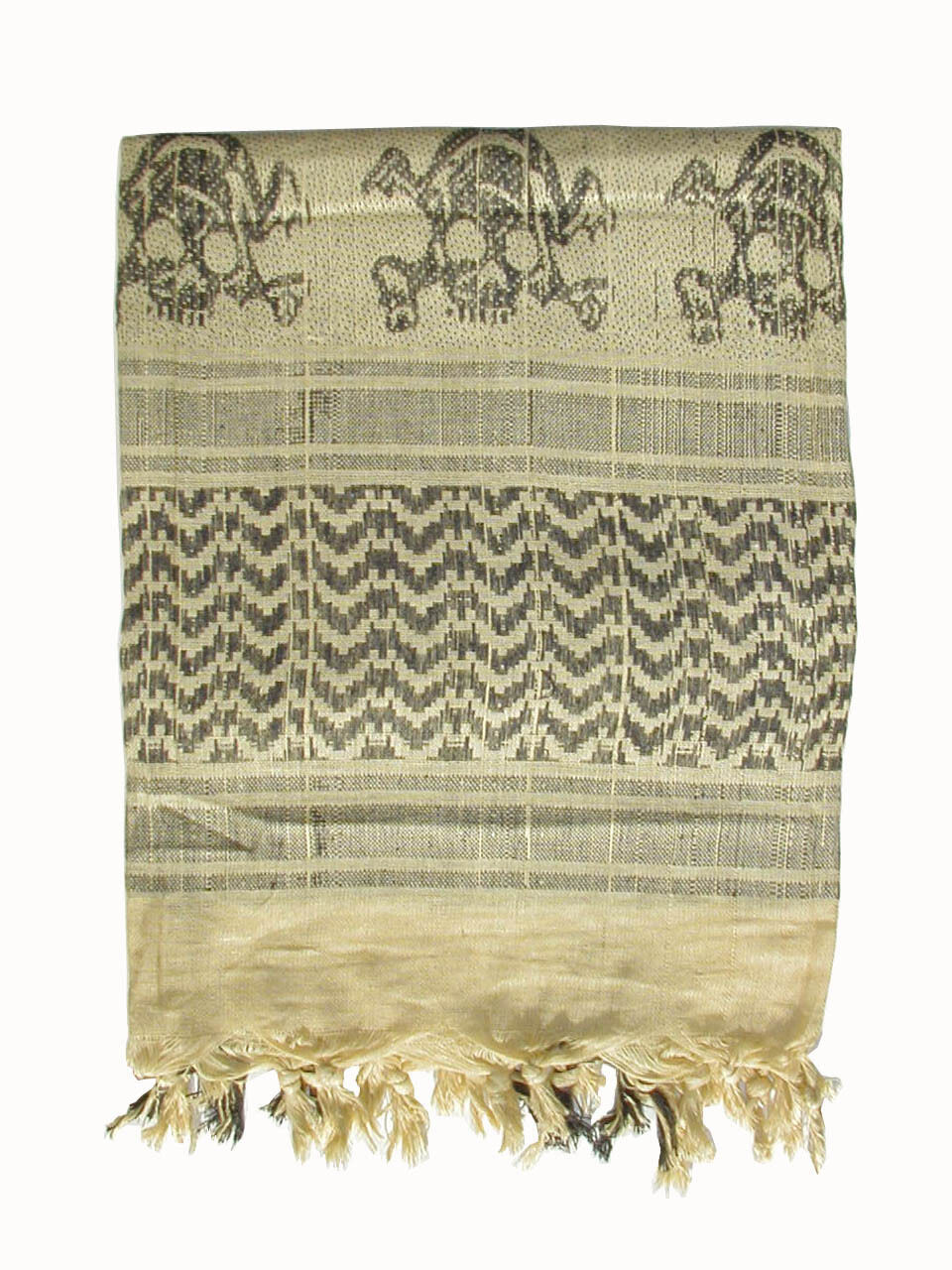 Army Military SAS Retro Desert Cotton Shemagh Aran Scarf with Skulls