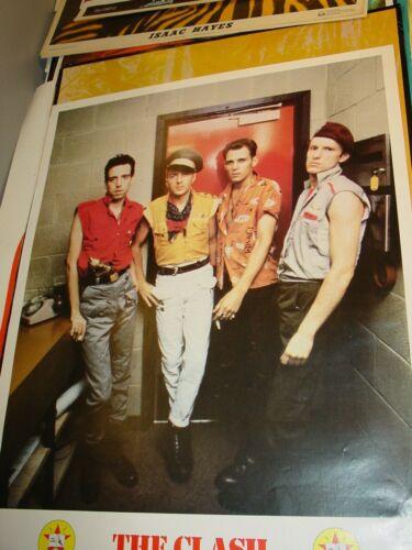 THE CLASH 1980 LIVE GROUP SHOT LONDON CALLING PUNK VINTAGE NOS POSTER -NICE!
