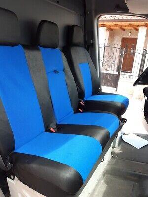 1 Set Sitzbezüge Schonbezüge 2+1 für MERCEDES SPRINTER SCHWARZ BLAU Neu