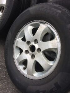 4 summer tires with mag 215/70/15 (5x114.3)