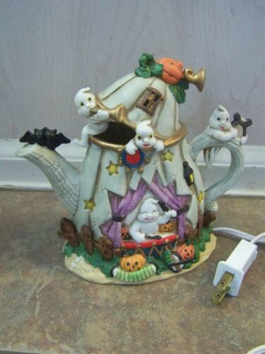 Halloween Porcelain Lighted Teapot