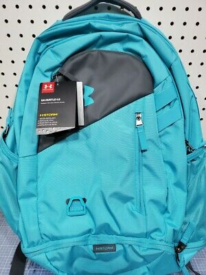 Under Armour UA Hustle 4.0 Storm Backpack laptop sleeve NEW  Gray seafoam
