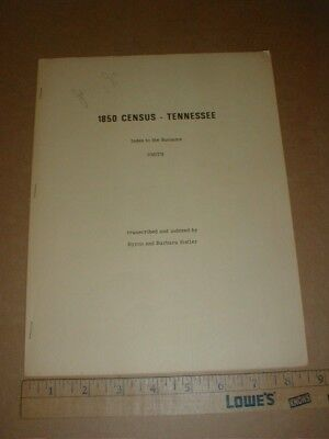 1850 Census Tennessee , index to surname Smith family Genealogy descendants 1972
