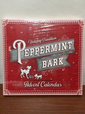 Williams Sonoma Peppermint Bark Advent Calendar CHOCOLATE Made Of Rich Semisweet