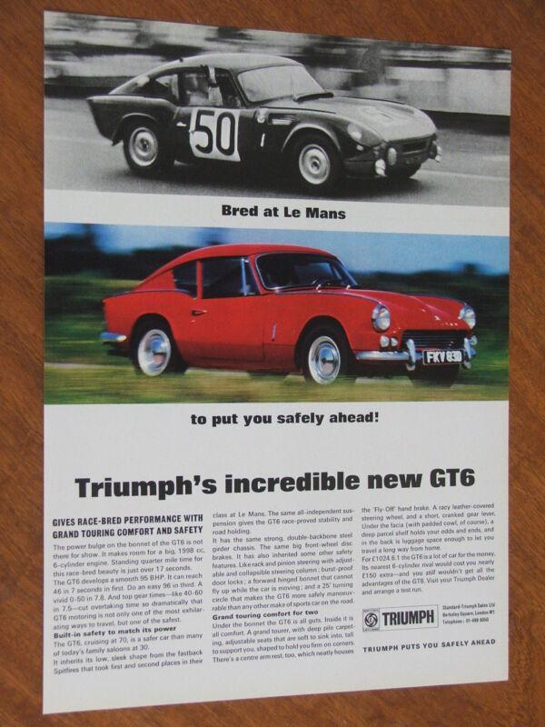 1968 Triumph GT6 original UK full page advertisement