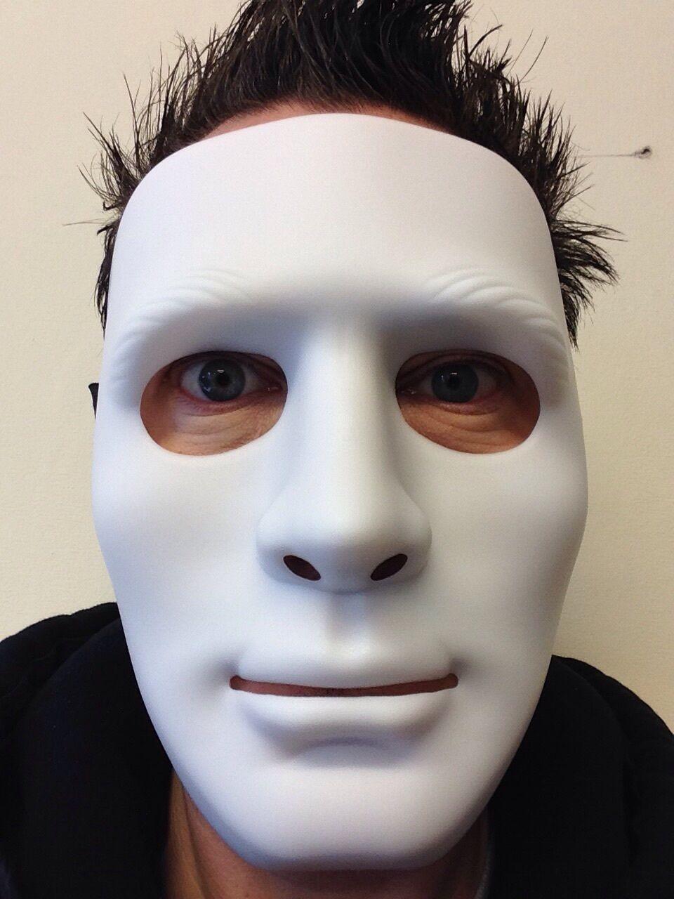 White Mime Robot Mask The Purge Dance Crew Halloween Hockey Hip ...