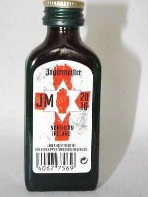 Jägermeister mini flaschen  EM 2016 Nordirland JM Sonderedition 0,02 ml 35% vol