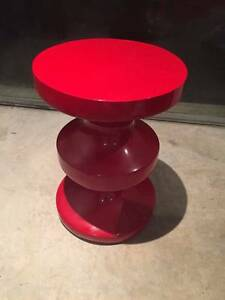 Glossy Red Side Table Northbridge Willoughby Area Preview