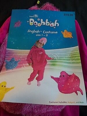 Boohbah Costumes (Boohbah Jingbah GIRLS CHILD SIZE 1-2 PINK HALLOWEEN COSTUME NEW NWT CHILDREN'S)