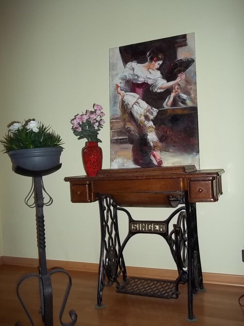 antike n hmaschine singer antiquit t dekoration deko. Black Bedroom Furniture Sets. Home Design Ideas