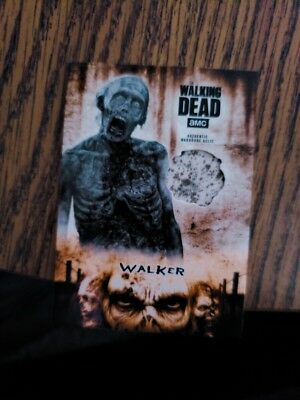 Walker 2018 THE WALKING DEAD HUNTERS and the HUNTED ORANGE RELIC CARD s/n /99