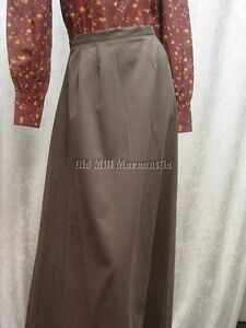 Ladies-Victorian-Edwardian-style-walking-skirt-BROWN-Sizes-XSmall-XXLarge