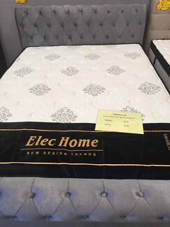 Brand New & Quality Grey Fabric Bed Frame with 2 Drawer
