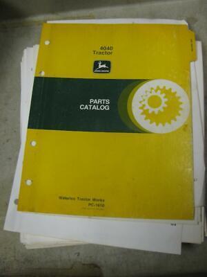 John Deere 4040 Tractor Parts Catalog Manual Pc1610