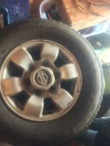 1999 Nissan Pathfinder winter tires and rims