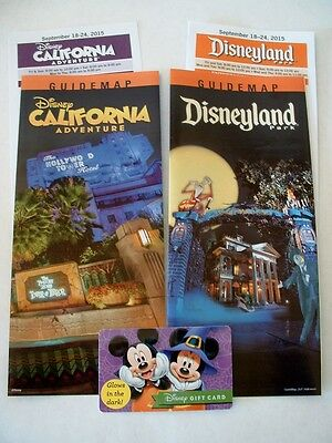 DISNEYLAND GUIDE MAP DISNEY & ADVENTURE PARK HALLOWEEN MAPS NEW BONUS GIFT CARD](Map Halloween)