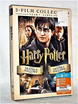 Harry Potter And The Deathly Hallows Part One And Part Two (DVD, 2010 )
