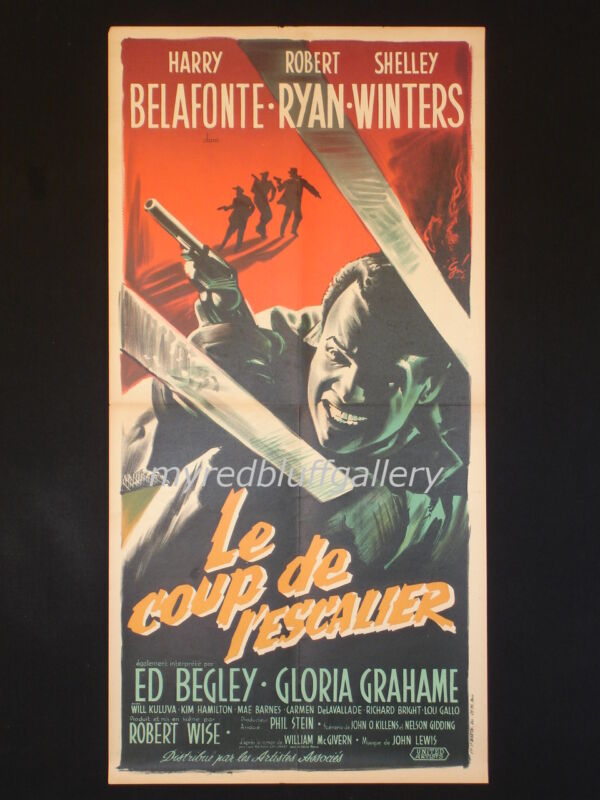 ODDS AGAINST TOMORROW 1959 Robert Wise  Boris Grinsson French Movie Poster
