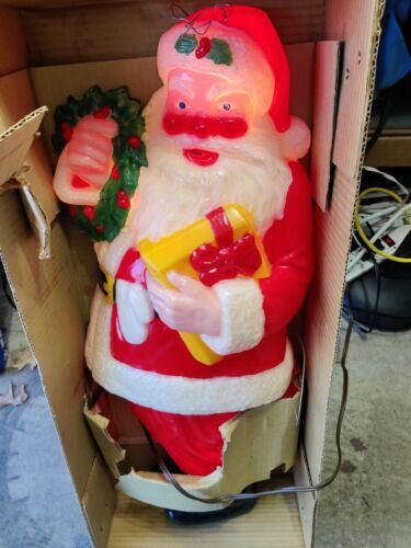 """NOMA 30"""" Full Color Plastic illuminated  Santa Claus # 33 Outdoor Indoor"""