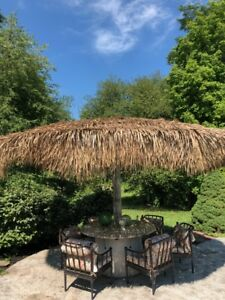 1Thatch Panel Replacement Umbrella Cover Patio Furniture Tiki Bar Fence Roof 4x4