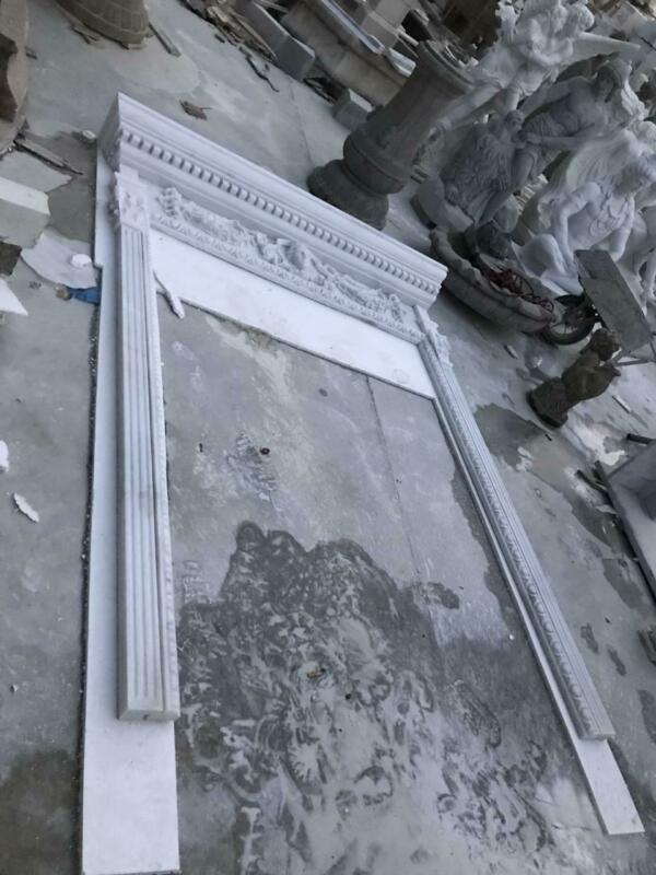 BEAUTIFUL ESTATE CARVED MARBLE DOORWAY SURROUND - -DSW03