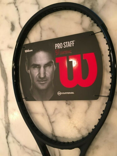 Wilson Pro Staff 97 (Black) Tennis Racquet  V12, free shipping 3/8 grips