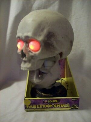 Rite Aid Halloween (Skull Animated Rite Aid Home Light Up Halloween Sound Effect Tabletop New in)