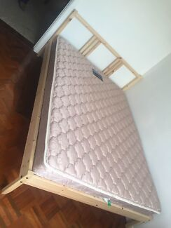 Near New IKEA DOUBLE BED Frame + Mattress +Deliver