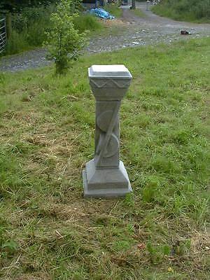 Unusual Art Deco sundial plinth      garden statue stone ornament