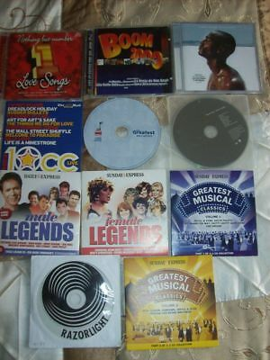 CD Pop Music Legends Lovers Musicals Collection of 11 Popular CD's job lot