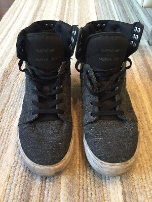 6c7ccf65a7 Supra Muska 001 Men's Grey High Top Sneakers Size 10