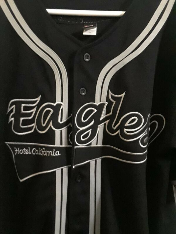 Eagles Authentic Tour Hotel California 2003 Baseball Jersey Size M fits Large
